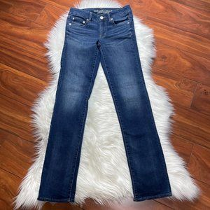 AMERICAN EAGLE Super Stretch Straight Leg Jeans 2